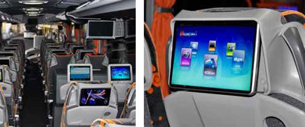 Beneficios de un sistema de entretenimiento a bordo de un autobús o autocar