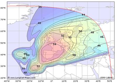 Cobertura satélite HISPASAT