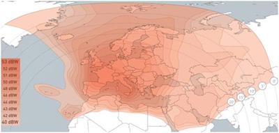 Cobertura satélite Hotbird