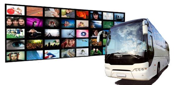 Tipos de sistemas de entretenimiento a bordo en el autobús